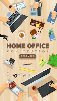 Home-office-schreibtisch vorlage