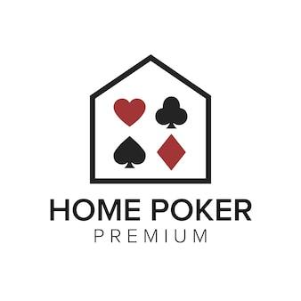 Home poker logo symbol vektor vorlage