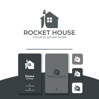 Home rakete logo-design fördert das startup