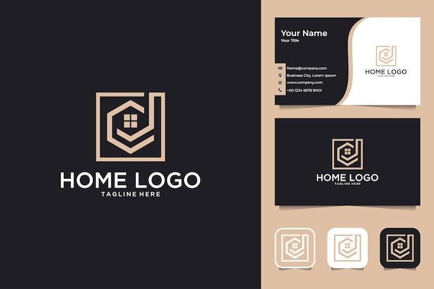 Home real estate logo-design und visitenkarte