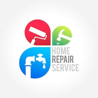 Home reparatur service geschäftsdesign