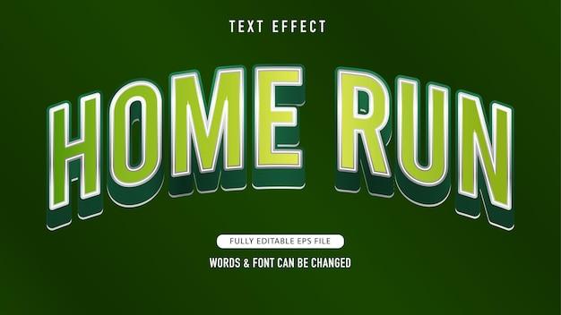Home-run-texteffekt