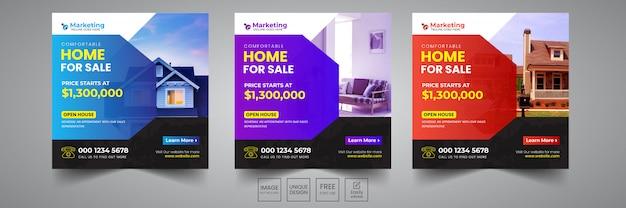 Home sale social banner design-vorlage