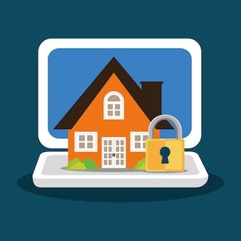 Home security laptop vorhängeschloss