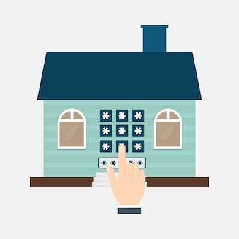Home security technologie zugang eigentum