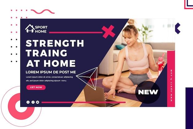 Home sport banner vorlage mit foto