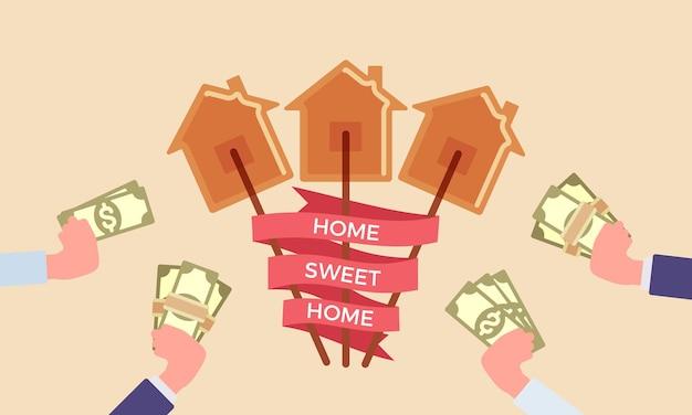 Home süße heimatphrase bei candy house