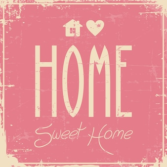 Home sweet home beschilderung vintage retro shabby
