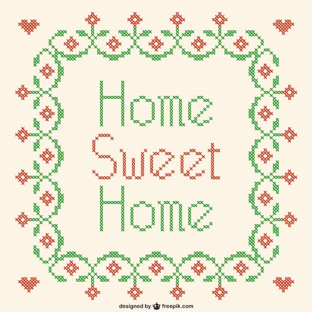Home sweet home kreuzstich vektor