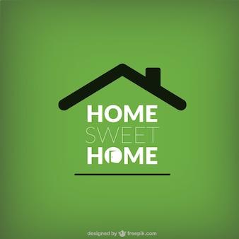 Home sweet home schriftzug