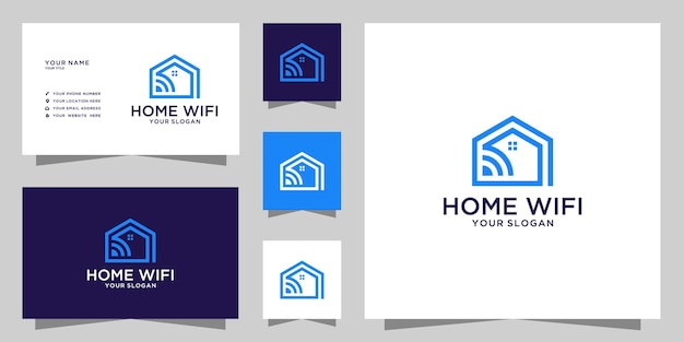 Home-wlan-logo und visitenkarten-design