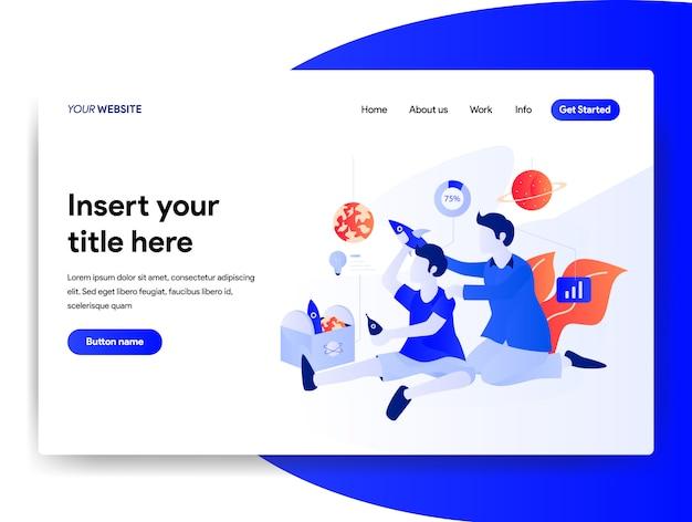 Homepage-design des start-business-konzeptes