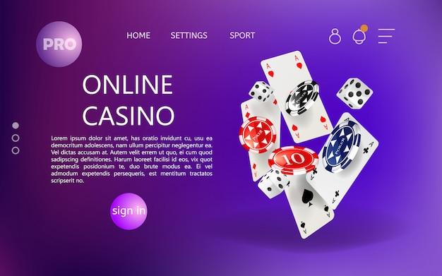 Homepage für online casino website.