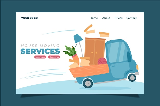 Homepage für umzugsservices