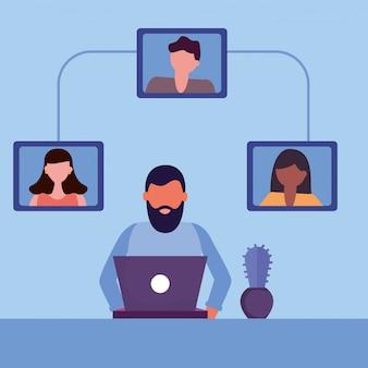 Homeschool online-bildung mit jungen studenten gemeinschaft