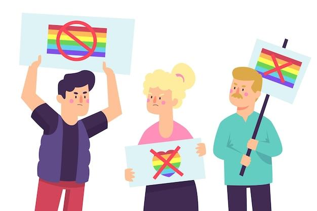Homophobie-illustrationskonzept