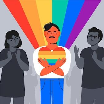 Homophobie-konzept
