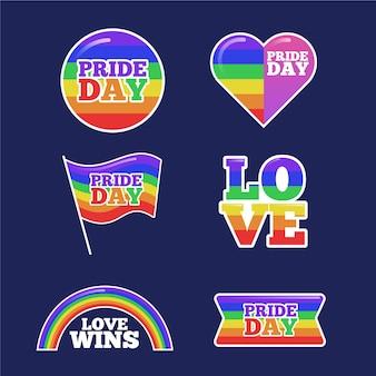 Homosexuell und stolz etiketten konzept