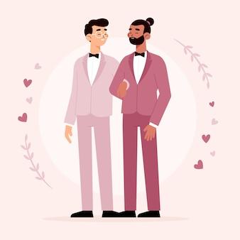 Homosexuelle paare der netten hochzeit