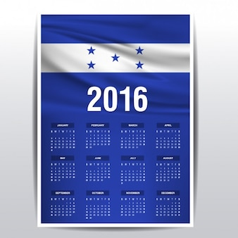 Honduras-kalender 2016
