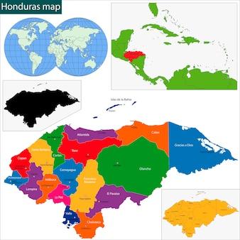 Honduras karte