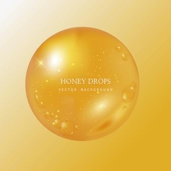 Honey drip und honey background