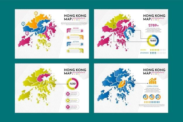 Hong kong karte infografiken
