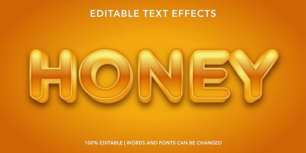 Honig bearbeitbarer texteffekt