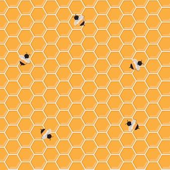 Honig-biene-hintergrund
