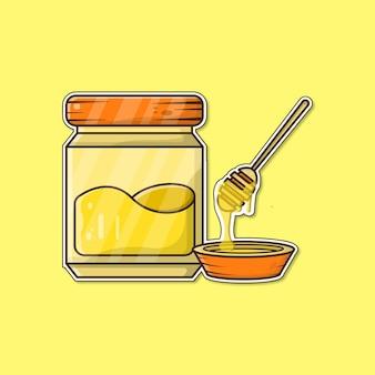 Honig-cartoon-vektor-illustration Premium Vektoren