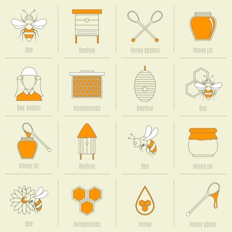 Honig-elemente-sammlung