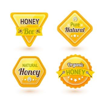 Honig etiketten gesetzt