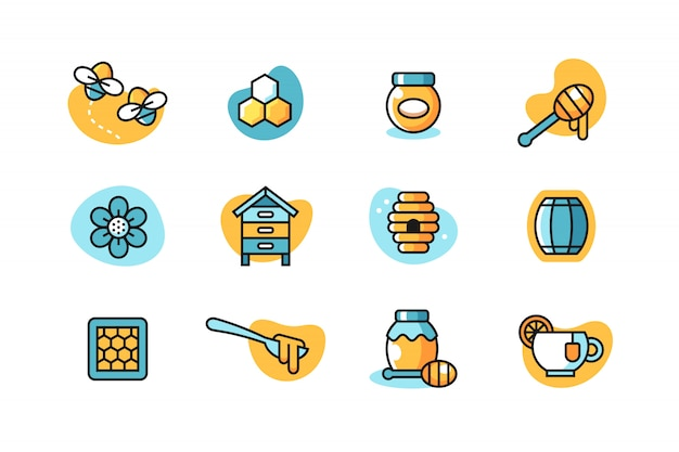 Honig-icon-set