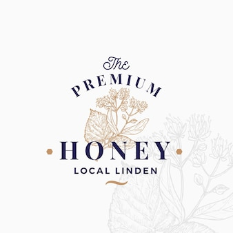 Honig-logo-vorlage in premium-qualität.
