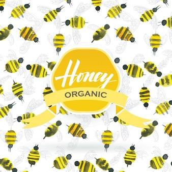 Honig-musterentwurf