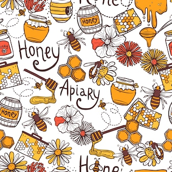 Honig nahtlose muster