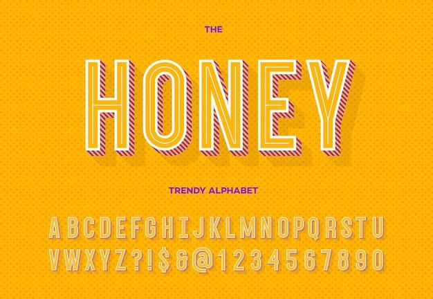 Honig trendiges alphabet