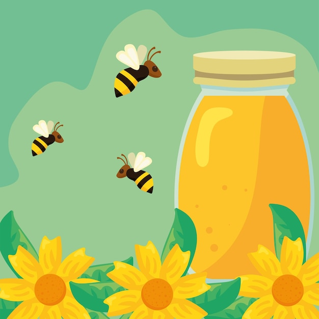 Honig und bienen