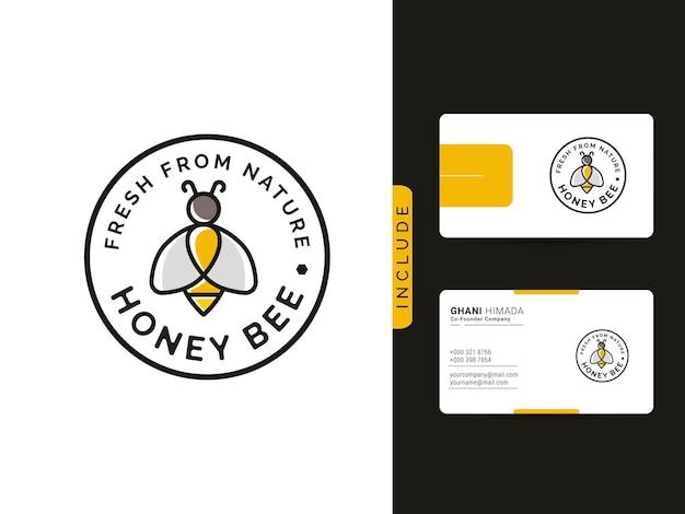 Honigbiene frisch aus der natur logo-design-konzept