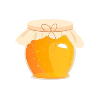 Honigglas-vektorillustrationen.