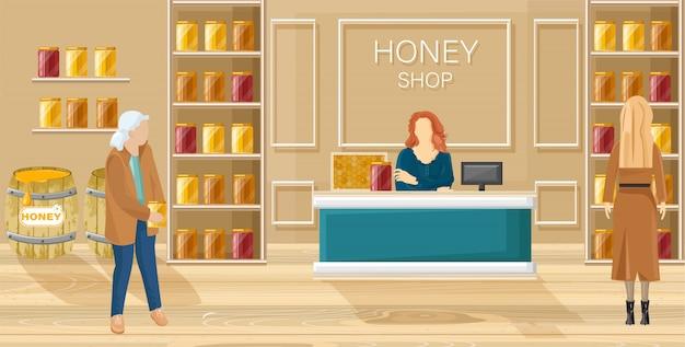 Honigladen flachen stil