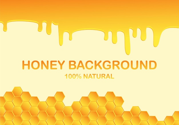 Honigtropfen, tropfen vom bienenwabenhintergrund. honigtropfen, waben,