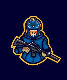 Hoodie robo gunner e sport-logo