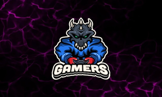 Hoodie skull gaming maskottchen esport logo vorlage