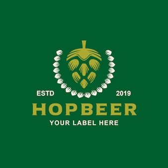 Hopfenbier logo design