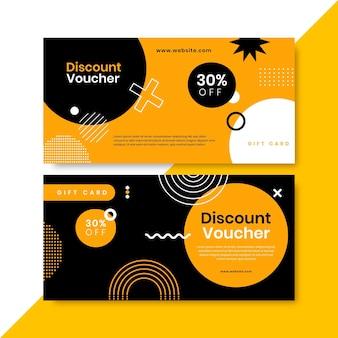 Horizontale banner für geschenkgutscheine im flachen design