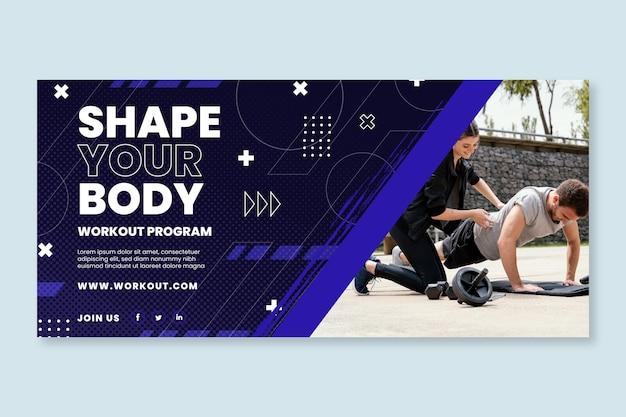Horizontale banner-vorlage für sport und technik