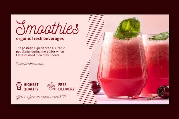Horizontale bannerschablone der smoothies-leiste