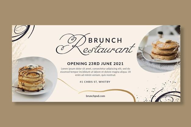 Horizontale bannervorlage für brunch-restaurants