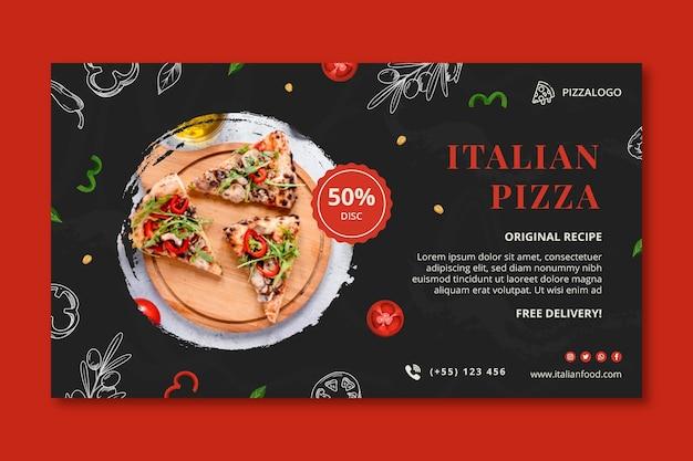 Horizontale bannervorlage für italienisches essen